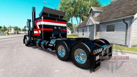 Negro Metálico de la piel para el camión Peterbi para American Truck Simulator