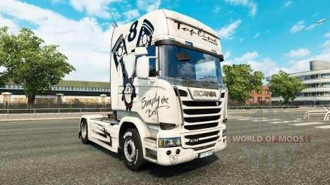 La piel Simplemente el Mejor en el tractor Scani para Euro Truck Simulator 2