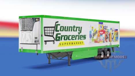 La piel de País de Comestibles en el remolque para American Truck Simulator
