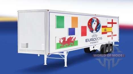 La piel Euro 2016 v3.0 en el semi-remolque para American Truck Simulator