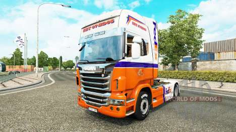 FedEx Express piel para Scania camión para Euro Truck Simulator 2