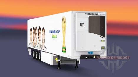 Semirremolque refrigerado ES Copa Mundial de la  para Euro Truck Simulator 2
