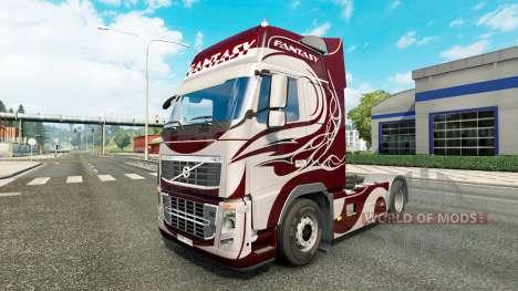 La fantasía de la piel para camiones Volvo para Euro Truck Simulator 2