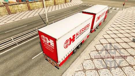 H. Essers de la piel para TGX camión tractor Tán para Euro Truck Simulator 2
