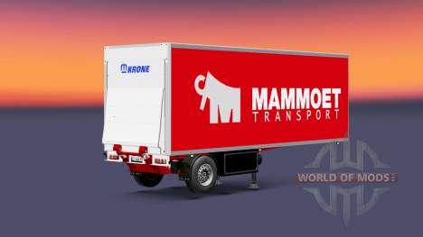 Semitrailer el refrigerador de la Corona de Mamm para Euro Truck Simulator 2