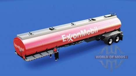 La piel de ExxonMobil en el tanque de combustibl para American Truck Simulator