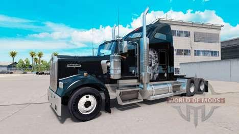 Piel Roja v1.2 en el camión Kenworth W900 para American Truck Simulator