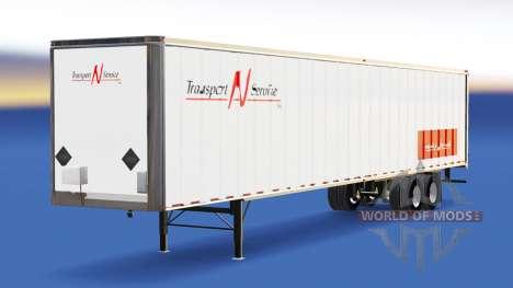 La piel de Transporte N de Servicio en el remolq para American Truck Simulator
