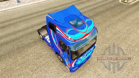 La piel Azul Edición de la unidad tractora Merce para Euro Truck Simulator 2