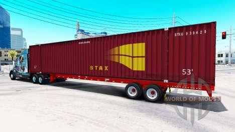 Semirremolque contenedor de STAX para American Truck Simulator