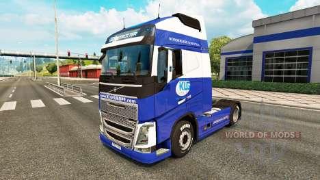 KLG de la piel para camiones Volvo para Euro Truck Simulator 2