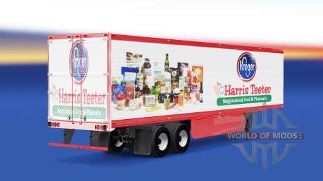 La piel de Harris Teeter en el remolque para American Truck Simulator