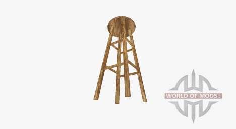 Taburete de bar de madera para Farming Simulator 2017