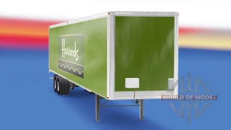 La piel de Harrods v2.0 en el semi-remolque para American Truck Simulator
