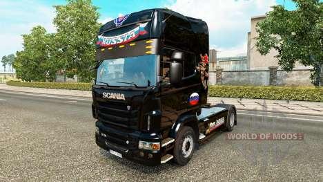 Piel de Rusia Negro en el tractor Scania para Euro Truck Simulator 2