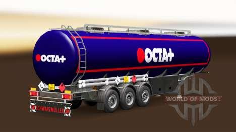La piel Octa combustible semi-remolque para Euro Truck Simulator 2