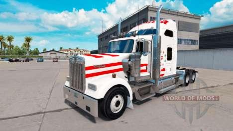La piel de Austria en camión Kenworth W900 para American Truck Simulator