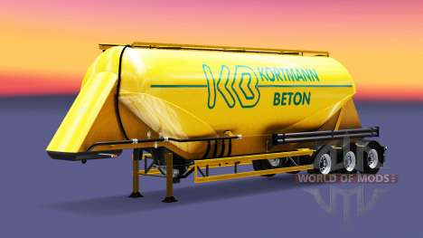 La piel Kortmann Beton es un semi-tanque para Euro Truck Simulator 2