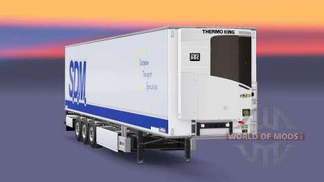 Semi-remolque frigorífico Chereau S. D. M. para Euro Truck Simulator 2