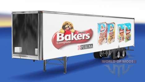La piel de los Panaderos en el remolque para American Truck Simulator