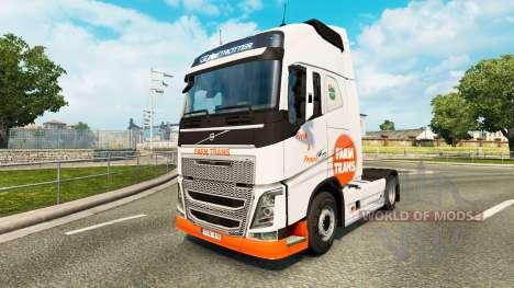 Granja Trans de la piel para camiones Volvo para Euro Truck Simulator 2