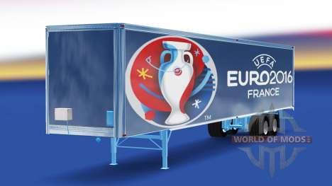 La piel Euro 2016 remolque para American Truck Simulator