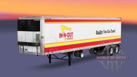 La piel DE in-N-OUT para la semi-refrigerados para American Truck Simulator
