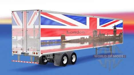 La piel de Londres v1.2 en el remolque para American Truck Simulator