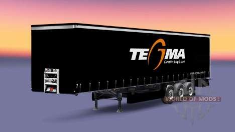 Tegma Logística de la piel para remolques para Euro Truck Simulator 2