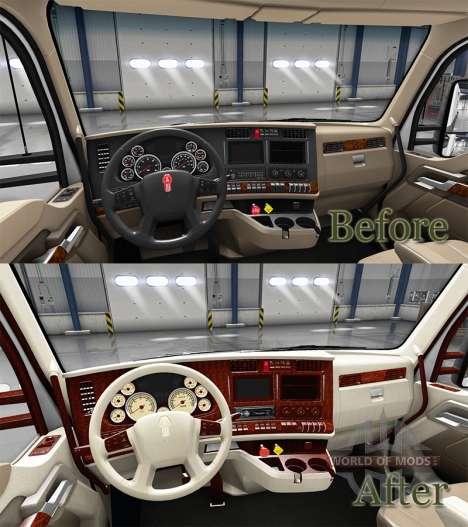 El interior es Retro Marcado para Kenworth T680 para American Truck Simulator