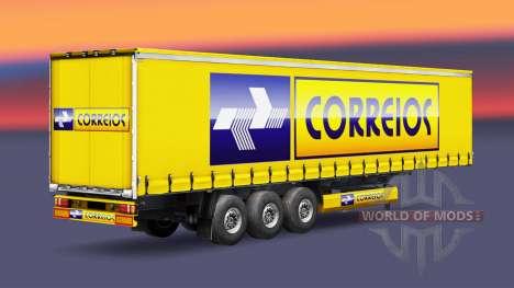 Correios de Logística de la piel para remolques para Euro Truck Simulator 2