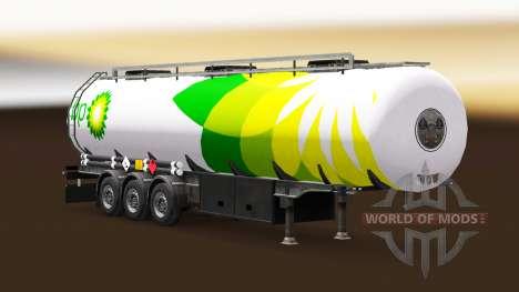 La piel BP combustible semi-remolque para Euro Truck Simulator 2