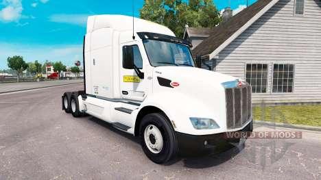 La piel de J. B. Hunt camiones Peterbilt y Volvo para American Truck Simulator