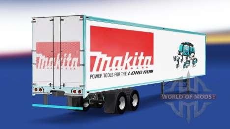 La piel Makita en el remolque para American Truck Simulator