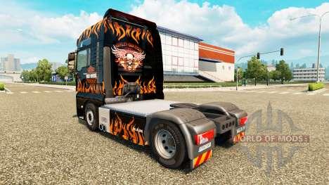 La piel de Harley-Davidson en el camión de HOMBR para Euro Truck Simulator 2