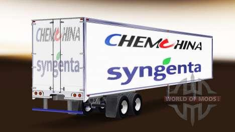 La piel ChemChina Y Syngenta en el remolque para American Truck Simulator