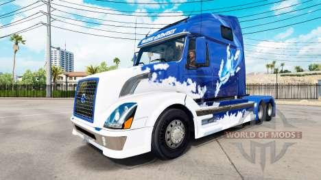 Azul de piel de Tiburón para camiones Volvo VNL  para American Truck Simulator