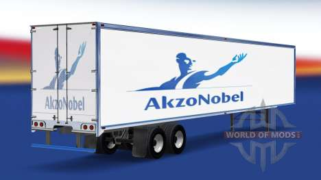 La piel de AkzoNobel en el remolque para American Truck Simulator
