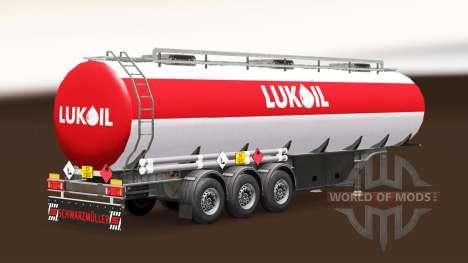 La piel Lukoil combustible semi-remolque para Euro Truck Simulator 2