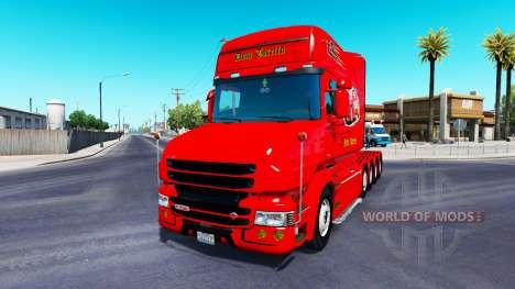 Dom Toretto de la piel para camión Scania T para American Truck Simulator