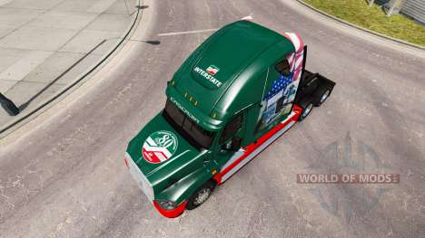 Скин INTERESTATAL 80 Años de на Freightliner Cas para American Truck Simulator