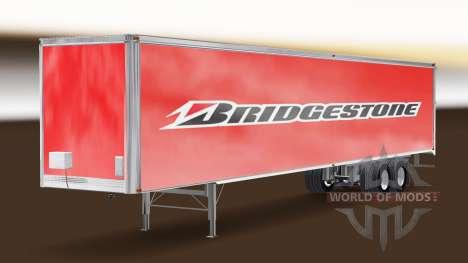 Bridgestone de la piel en el remolque para American Truck Simulator