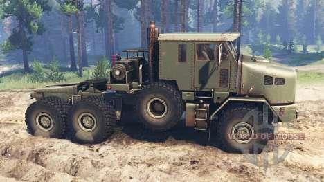 Oshkosh M1070 HET v2.0 para Spin Tires