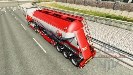 TruckSim de la piel en el semirremolque-camión d para Euro Truck Simulator 2