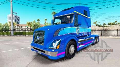 La piel Plycool en el tractor Volvo VNL 670 para American Truck Simulator