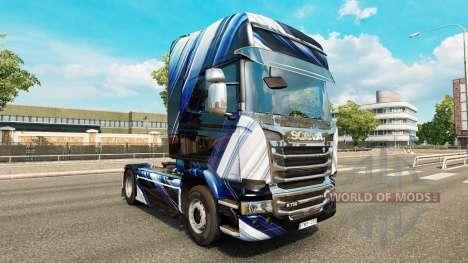Las Rayas azules de la piel para Scania camión para Euro Truck Simulator 2
