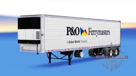 La piel de la P&O Ferrymasters en el remolque para American Truck Simulator