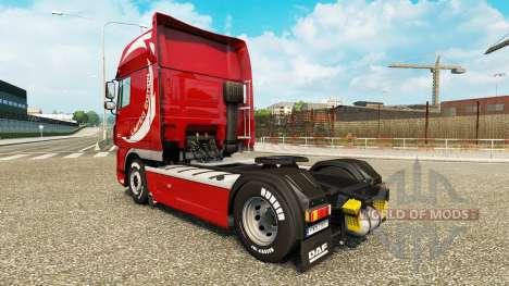 La piel Limited Edition v2.0 camión DAF para Euro Truck Simulator 2