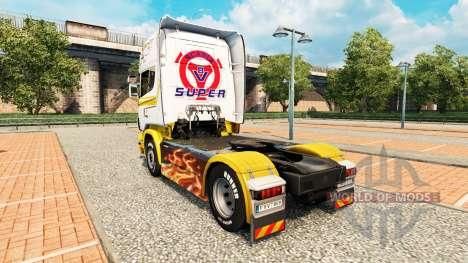 Piel de oro Blanco en el tractor Scania para Euro Truck Simulator 2
