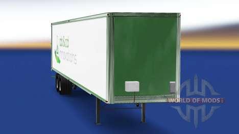 La piel ab y cd innovaciones en el remolque para American Truck Simulator